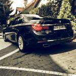 czarne BMW 750 Long Xdrive Diesel 381HP